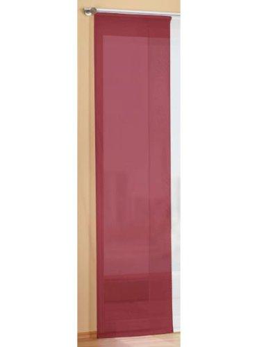 Preisgünstiger Flächenvorhang Schiebegardine, transparent, unifarben, mit Zubehör, 245x60, Bordeaux, 85589