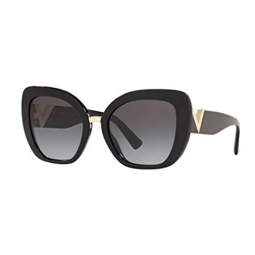 Valentino Damen Sonnenbrille 4057 50018G Schwarz Schmetterlingslinsen Sfumate 54