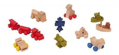 Juguetes de madera para muñequitas, 12 piezas de HSL