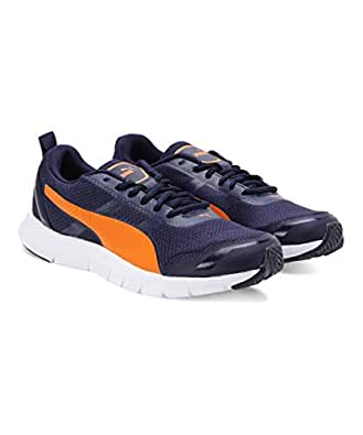 Puma Men's Track V2 IDP Peacoat/Orange Pop Running Shoes-6 UK (39 EU) (7 US) (37248203_a)