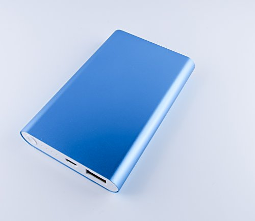 Batteria esterna, Ultra per Energy Power Bank 16000mAh nel corpo in metallo di alta qualità, portatile caricabatterie per smartphone, tablet & Co. in bel blu