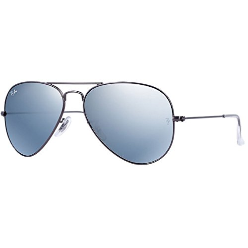 Ray-Ban - Lunettes de Soleil - RB3025 Aviator Metal Aviator 58 mm MATTE GUNMETAL (MATTE GUNMETAL) VERT