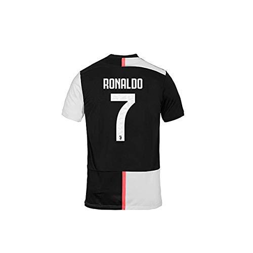 Juventus turin Trikot Ronaldo Home offizielle 2019/20-100% Original - Patch-Wappen Enthalten - M, Weiß -