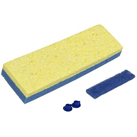 Quickie # 0442 Automatic Sponge Mop Refill W/ Dry Shine Sponge - Quantity 8 by Quickie