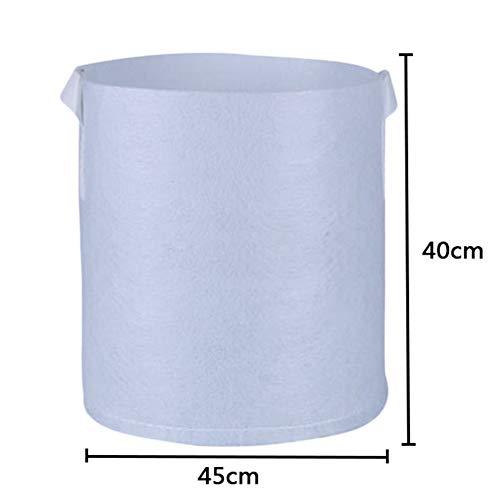 TianranRT Runde Stoff Töpfe Wurzel Behälter Wachsen Tasche Pflanze Beutel Belüftung Behälter XL (Weiß,XL)