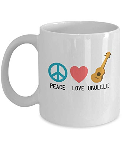 WTOMUG You will always be my best Ukulele Player Mug Funny Gifts - Peace Love Ukulele Ukulele Teacher, Student Musician, Musician, Music Lover, Ukulele Player Coffee Cup 11 or 15 Oz