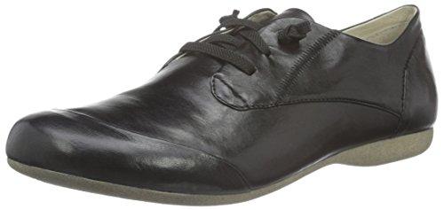 Josef Seibel Damen Fiona 01 Derby 600 schwarz), 38 EU (Leder Schuhe Damen Halbschuhe)