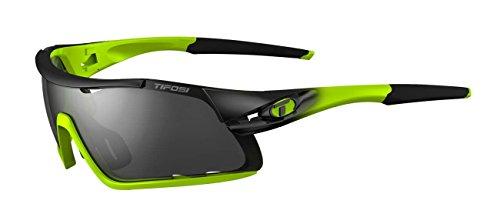 Tifosi Davos Interchangeable Lens Sonnenbrille, Race Neon, Einheitsgröße