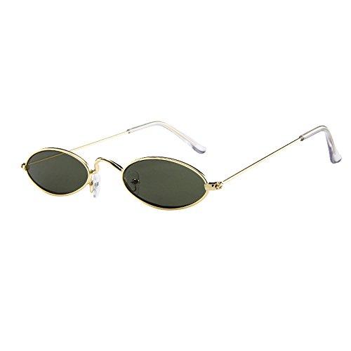 Brillen Sonnenbrillen Retro Unisex Sommer Sonnenbrillen Vintage Sonnenbrillen Retro Kleine ovale Sonnenbrillen Metallrahmen Sonnenbrillen Rapper Schutz Sonnenbrillen
