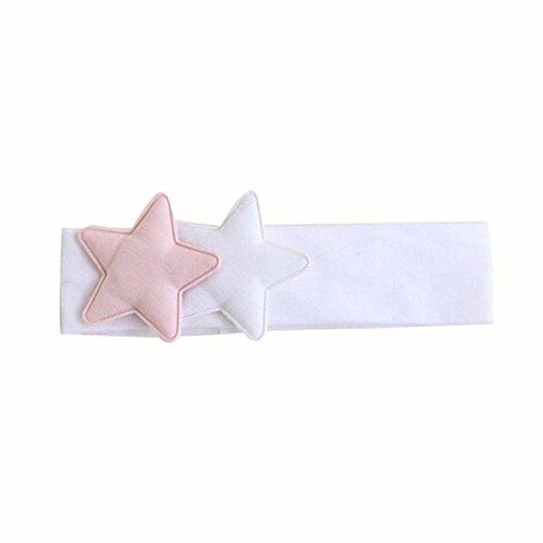 Stirnbänder Transer® Baby Unisex Stirnband Halten Kopf Star Sterne Haarband Babyschmuck Babygeschenke & Taufe Größe: 2-18 Monate (Weiß)