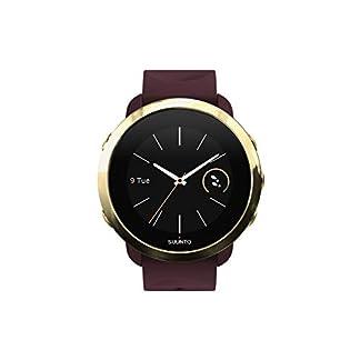 Suunto 3 Fitness – Reloj Multideporte con GPS y pulsómetro incorporado, Pantalla Matricial, Unisex Adulto, Granate/Dorado (Burgundy), Talla Única