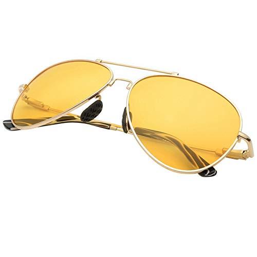 LKVNHP New Hochwertigen Männer Legierung Polarisierte Männer Sonnenbrille Spiegel Sonnenbrille Klassische Brillen Zubehör Für Oculos De Sol MännlichGelbOhneFall
