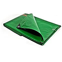 Lona de protección 3x 5m 250G/m²–de plástico–exterior–impermeable, de techado, de construcción