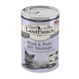 Landfleisch Adult Pastete mit Rind+Pute+Shrimps   6X 400g Katzenfutter