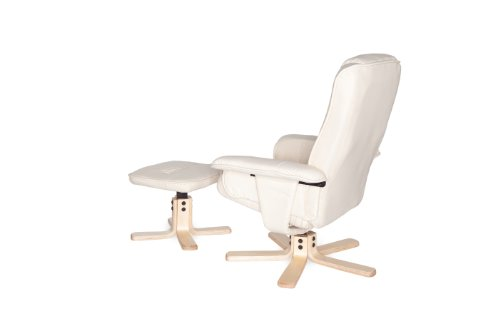 Amstyle Comfort Relaxsessel mit Hocker - 12