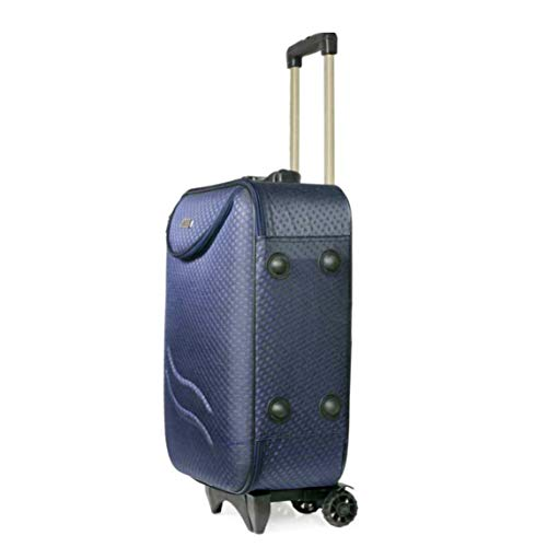 Polo Checks Matte Travel Trolley Bag/Suitcase/Luggage Bag- Cabin Luggage Expandable Cabin Luggage - 20 inch (Blue)
