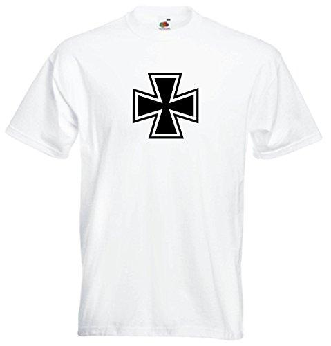 T- Shirt Herren - Eisernes Kreuz Weiß