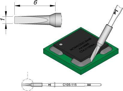 Jbc - Punta de soldador para Nano C105115