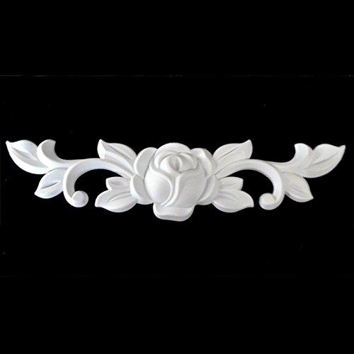 Zierleiste Zierteile Verzierungen Rosen Ornament Antik Möbel Beschläge 17cm