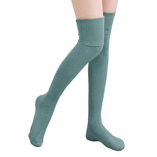 rümpfe Socken Overknee Strümpfe Strumpfhosen Baumwollstrümpfe Stricksocken Stützkniestrümpfe Gestrickte Socken Hoch Über das Knie Lange Socken Winter Strümpfe, 74cm Blau, 74cm ()