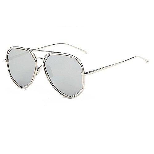 O-C Damen Sonnenbrille Silber silver frame,silver lens