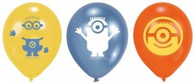 6 Minions Luftballons (Minion Party-spiele)
