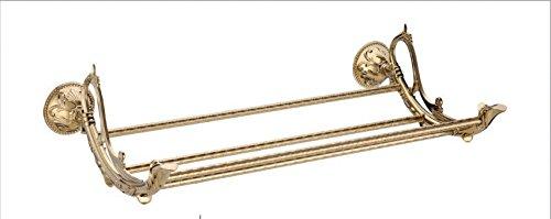 JinRou Carattere unico design titanio oro rame scolpito piedistallo unico portasciugamani
