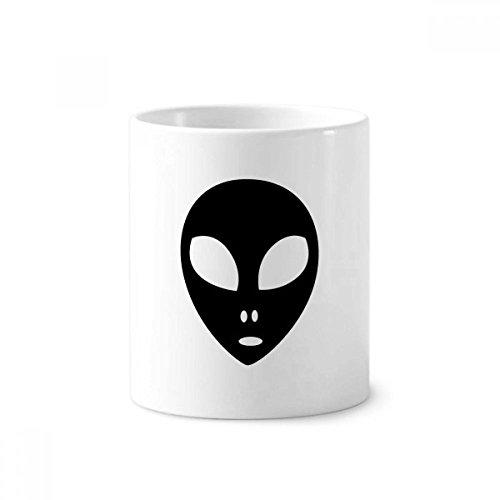 UNIVERSUM Alien Monster Head Portrait Keramik-Zahnbürste Stifthalter Becher weiß Tasse 350ml Geschenk