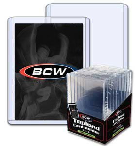 BCW 3 x 4 x 7 mm - Thick Card Topload Holder 240 pt - Baseball and Other Sports Trading Cards & Storage of Wax Packs by BCW