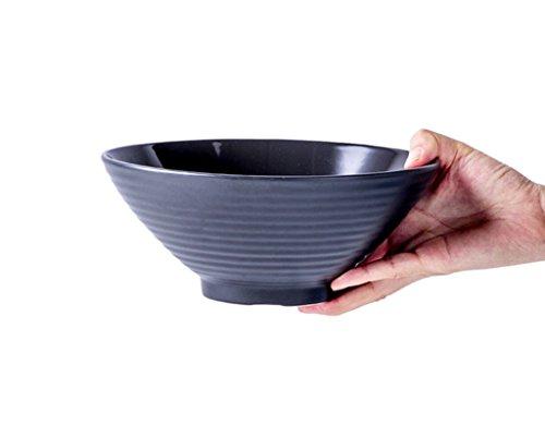 HJHY® Japanischen Stil Hut Schüssel große Ramen Schüssel Retro Rindfleisch Nudel Schüssel Keramik Haushalt Suppe Nudeln Schüssel schwarz
