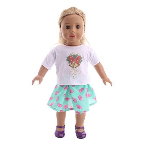 TianranRT Beautiful Dress Suit For18 inch Our Generation For American Doll, Verde
