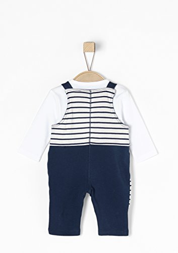 s.Oliver RED LABEL Junior Unisex - Baby 2-in-1: Jersey-Latzhose mit Longsleeve dark blue 50/56