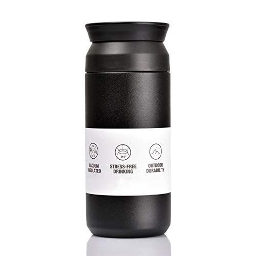 BOHORIA® Premium Edelstahl Kaffee-to-Go-Becher - Isolierbecher - Thermo-Becher - Doppelwandig & Vakuumisoliert - 350 ml - Reise-Becher Kaffee und Tee zum Mitnehmen - Autobecher Travel Mug (Ink)