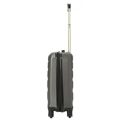 Aerolite ABS Maleta Equipaje de mano cabina rígida ligera con 4 ruedas, 55cm, Gris Gris Oscuro