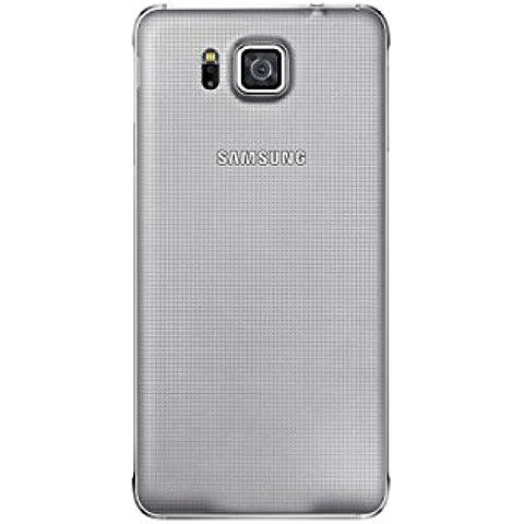 Samsung EF-OG850SSEGWW - Cubierta posterior para Samsung Galaxy Alpha G850F, plateado