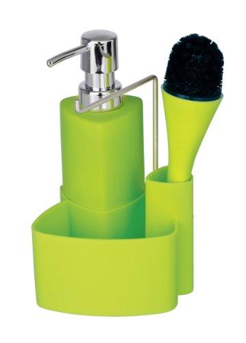 wenko-3620122100-set-lavare-piatti-empire-verde-con-spazzola-025-l-cercamica-soft-touch-tocco-delica