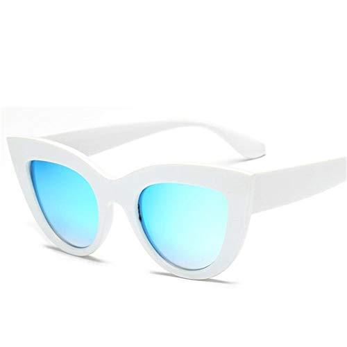 RZRCJ Katzenauge Frauen Sonnenbrille Getönte Farblinse Männer Vintage Shaped Sun Glasses Weibliche Brillen Blaue Sonnenbrille (Lenses Color : A)