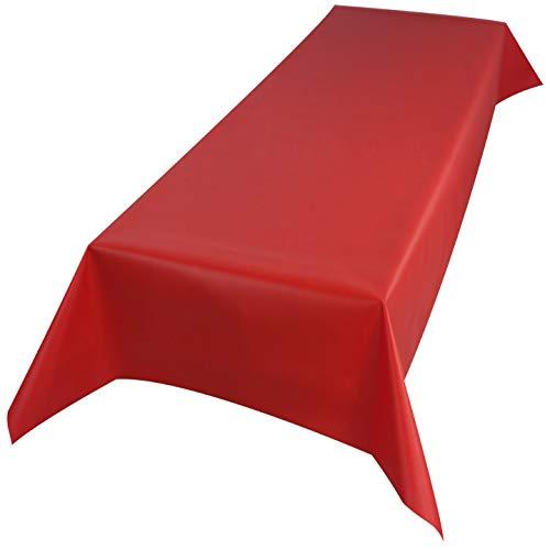 Sensalux Tischdecke, Öko-Tex 100, abwaschbar, (Farbe + Größe wählbar), rot, 1m x 2,5m,...