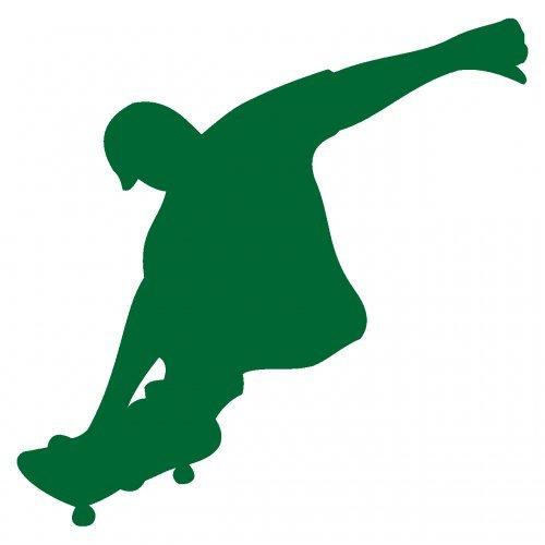 plot4u Skatebordfahrer Aufkleber Skateboard in 9 Größen und 25 Farben (40x40cm grasgrün)