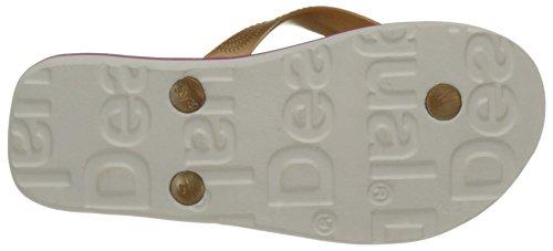 Desigual Flip Flop Roller, Salomés Fille Blanc (White 1000)