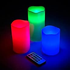 Stvin Color Changing Decorative Night Lamp for Bedroom Kids Set of 3 with Remote