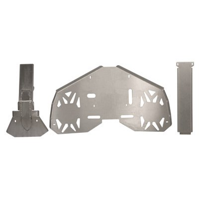Ricochet 678 3-Piece Full Frame & Floorboard Aluminum Skid Plate Set, Can-Am Renegade 2007-2011