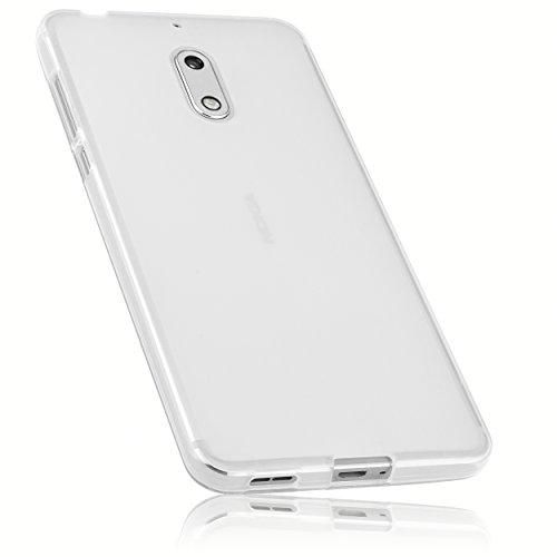 mumbi Schutzhülle für Nokia 6 Hülle transparent weiss