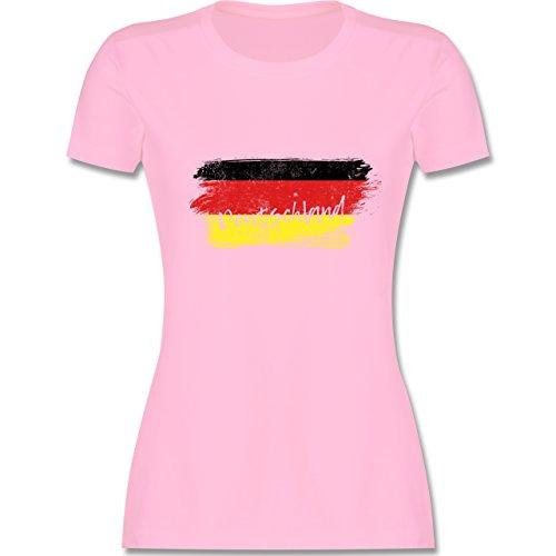 Handball WM 2019 - Deutschland Vintage - XXL - Rosa - L191 - Damen Tshirt und Frauen T-Shirt