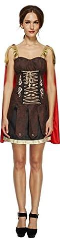 Fever, Damen Gladiator Kostüm, Kleid mit Umhang, Größe: S, 33258 (Roman Kriegerin Kostüm)