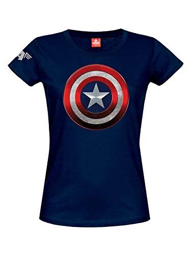 Captain america Shield Girl Shirt blau, Größe:XL