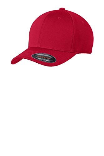 Sport-Tek® Flexfit® Cool & Dry Poly Block Mesh Cap. STC22 True Red S/M (Poly-block)