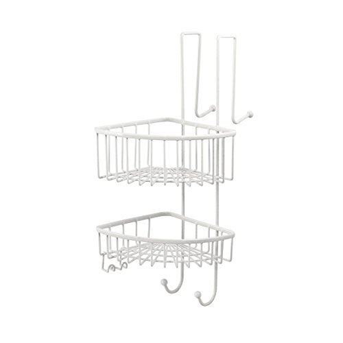 bremermann® Dusch-Eckregal, Duschkorb, Badregal zum Einhängen, 2 Körbe