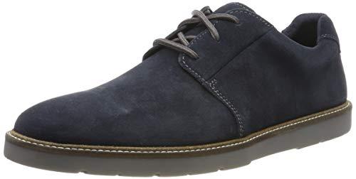 Clarks Herren Grandin Plain Derbys, Blau Navy, 42 EU - Clark Schuhe Für Männer