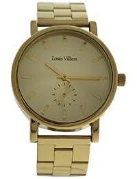 Reloj mujer Louis Villiers reloj 40 mm en acero dorado y correa Color Dorado en acero lv2070